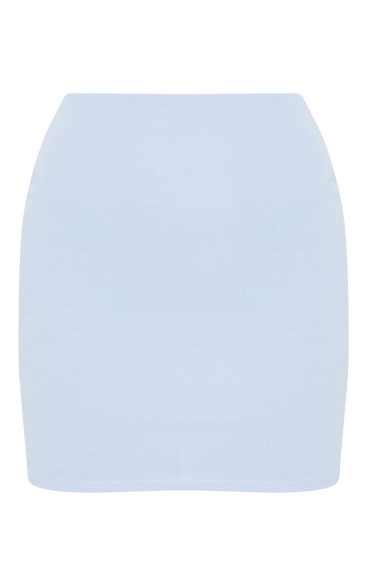 Light Blue Crepe Bodycon Skirt 3