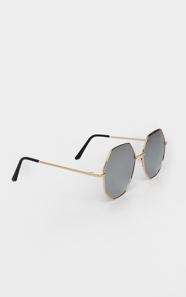 Silver Revo Octagon Oversized Sunglasses    3