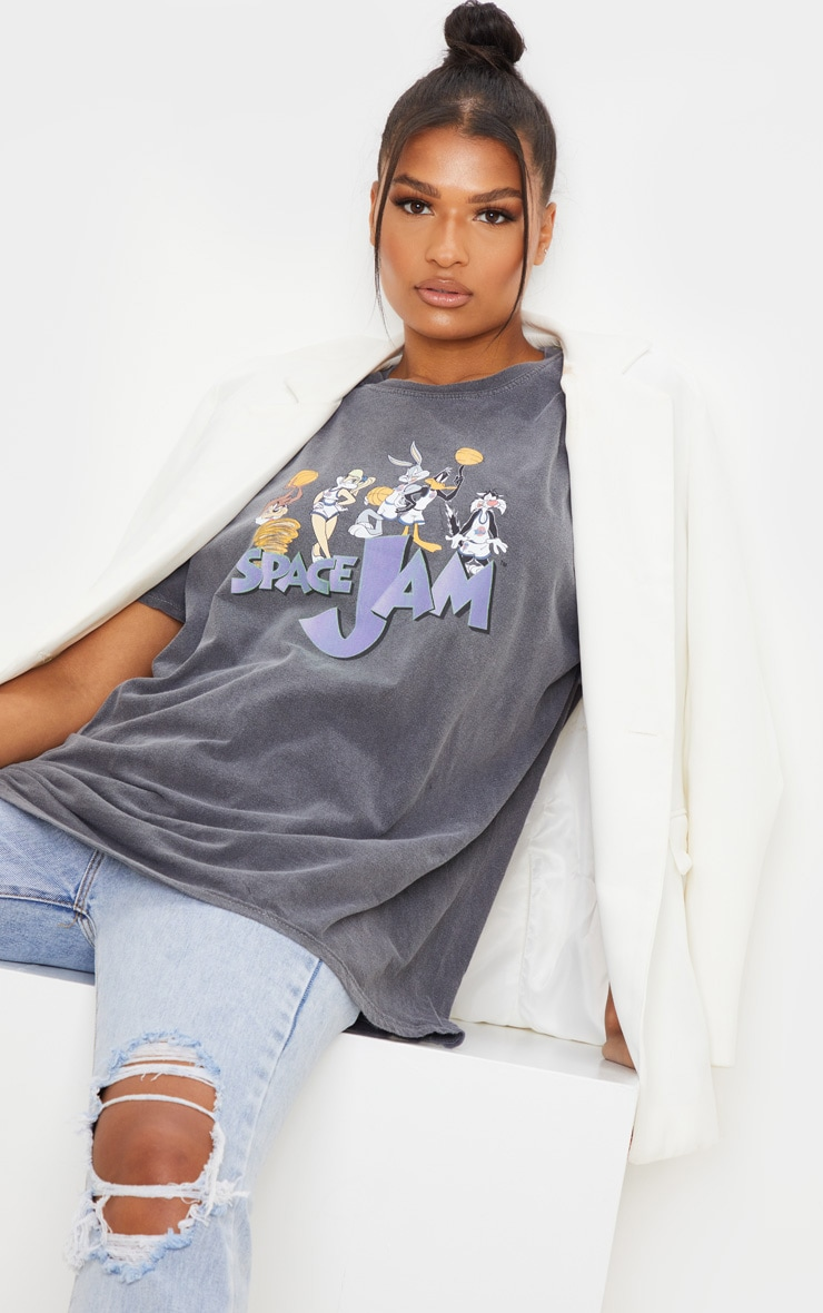 Grey Space Jam Washed T Shirt 4