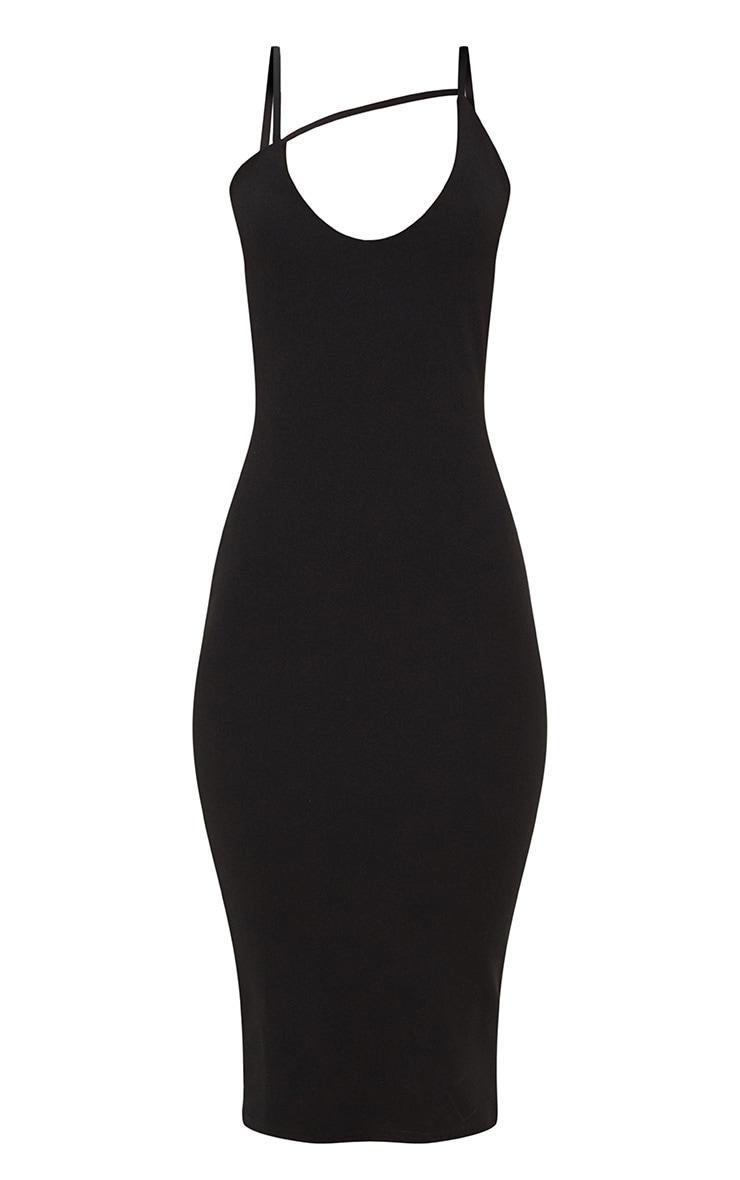 Black Cross Strap Detail Midi Dress 3