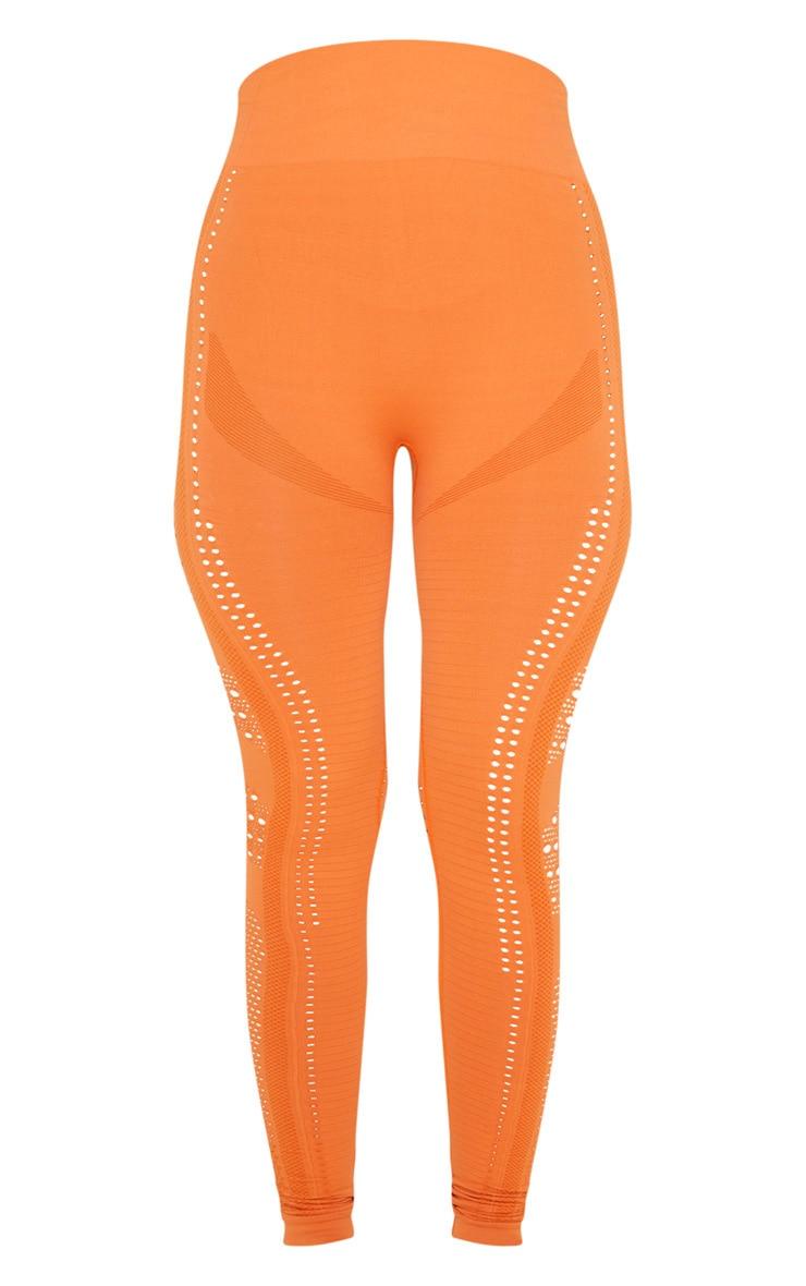 Orange Seamless Cut Out Legging 4