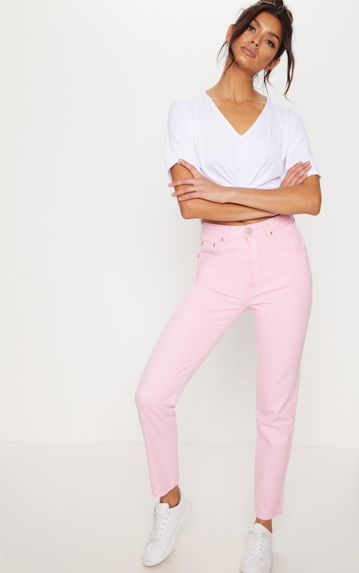 Pink Straight Leg Jean