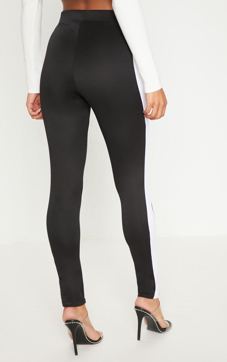 Black Scuba Contrast Side Stripe Skinny Trouser 4