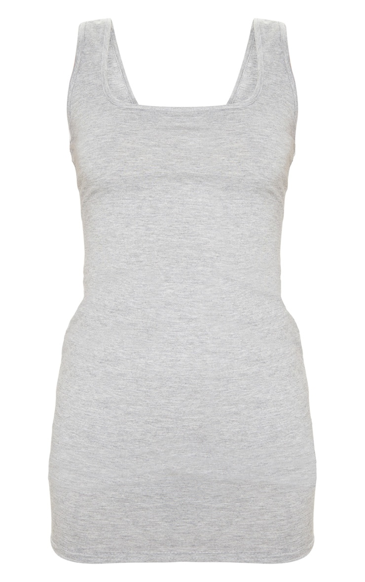 Tall Grey Square Neck Mini Dress 3