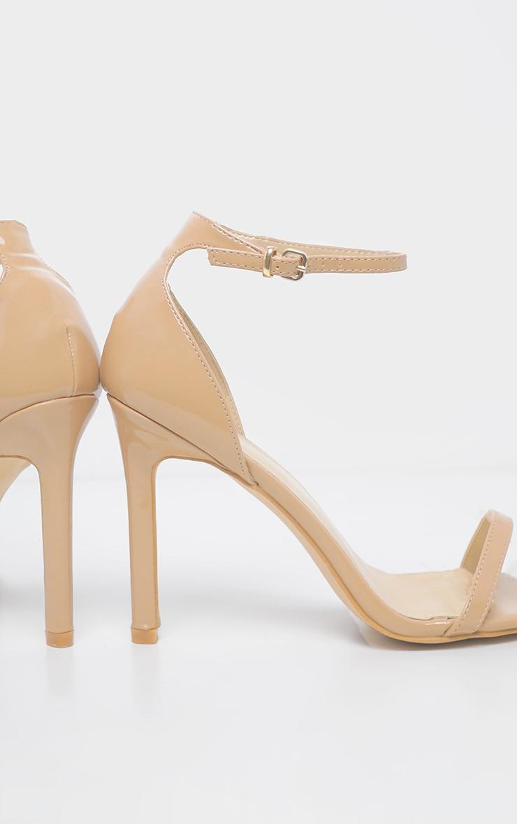 Mid Nude Thin Strap Square Toe Strappy Sandal 4
