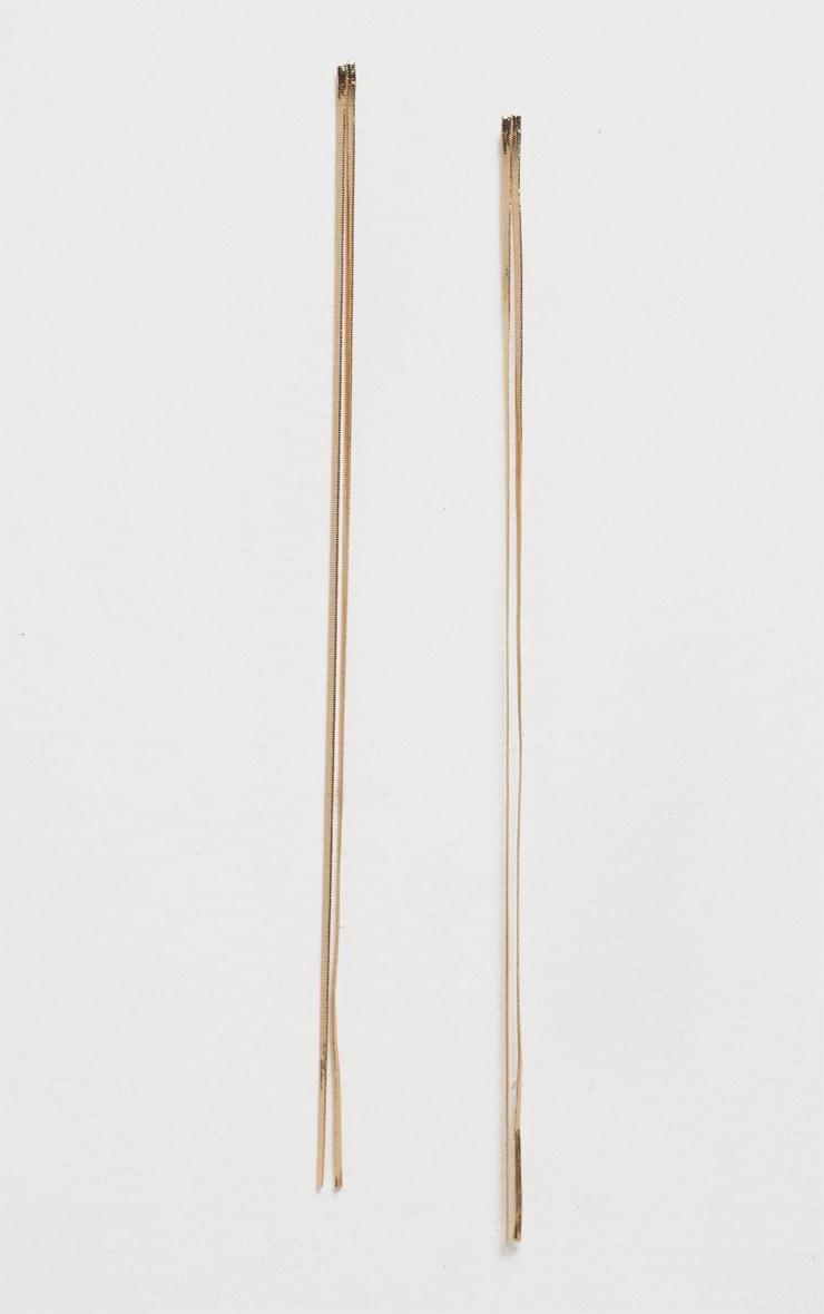 Gold Long Chain Earring 2