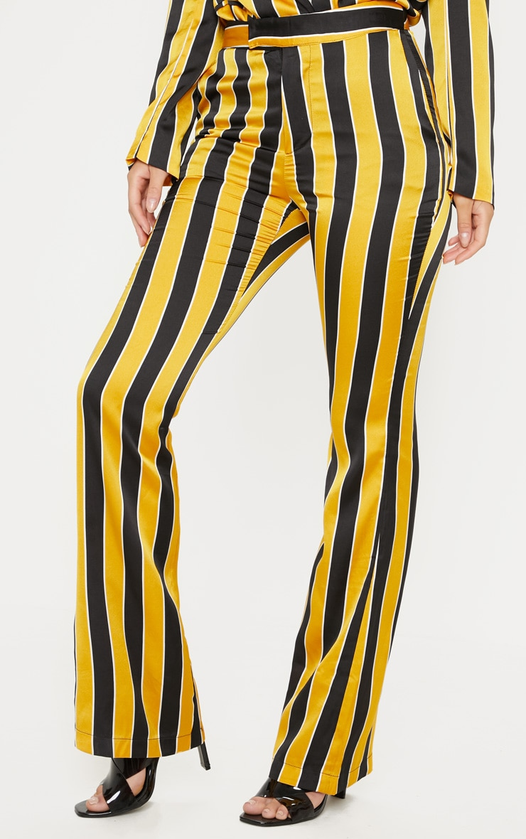 Yellow Stripe Straight Leg Trouser  4