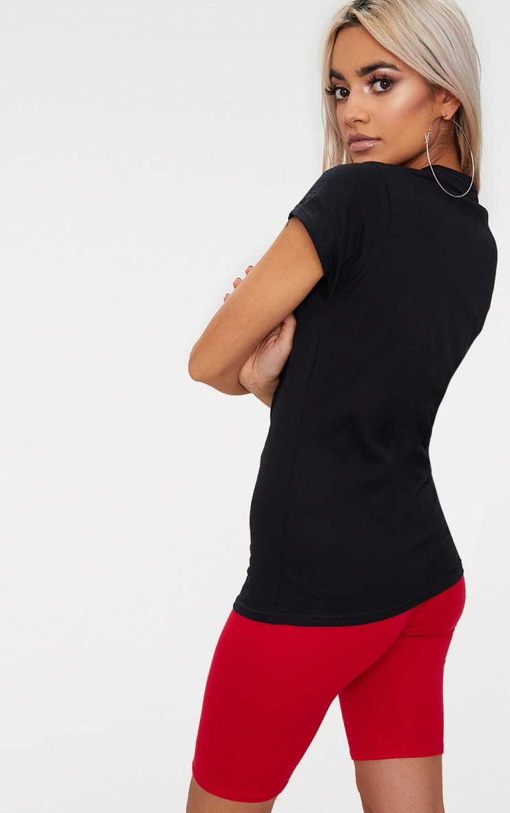 Black Love Heart Jersey T Shirt  2