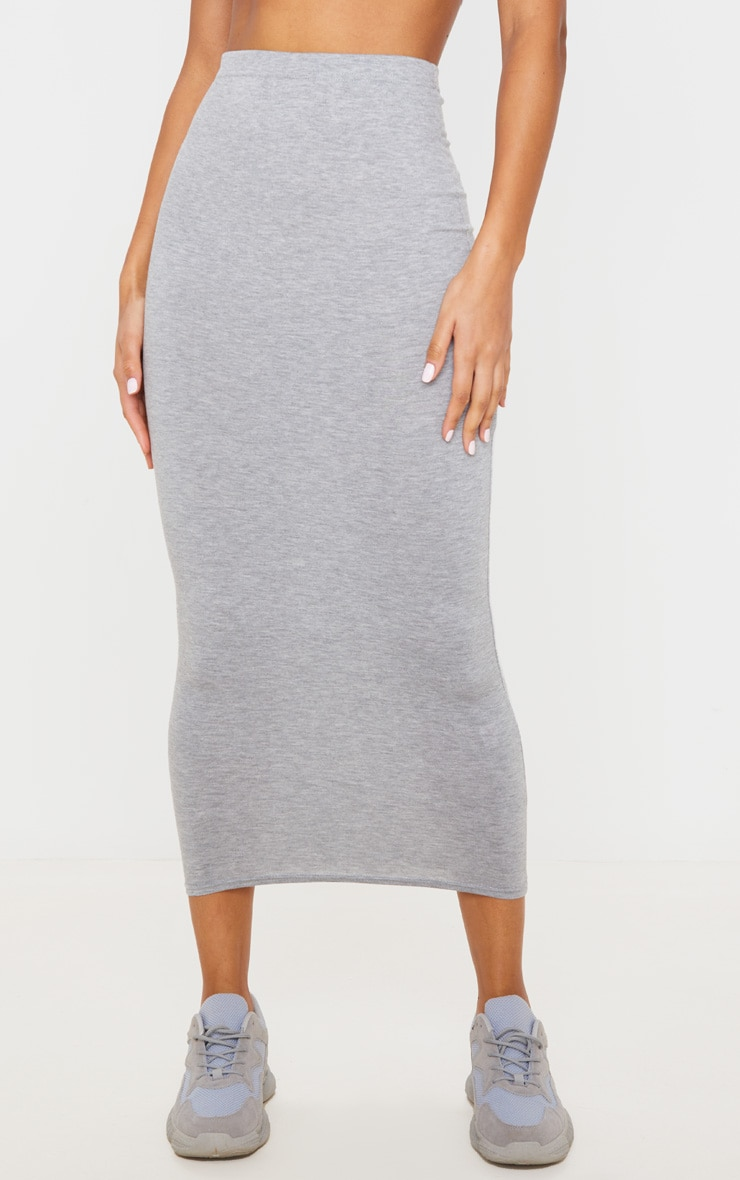 Basic Grey Midaxi Skirt 2