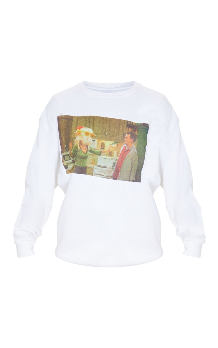 White Friends Christmas Printed Sweater 3