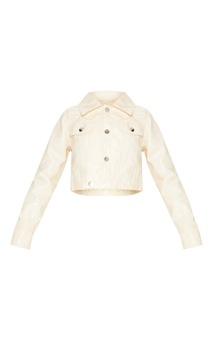 Camel  High Shine Trucker Jacket  4