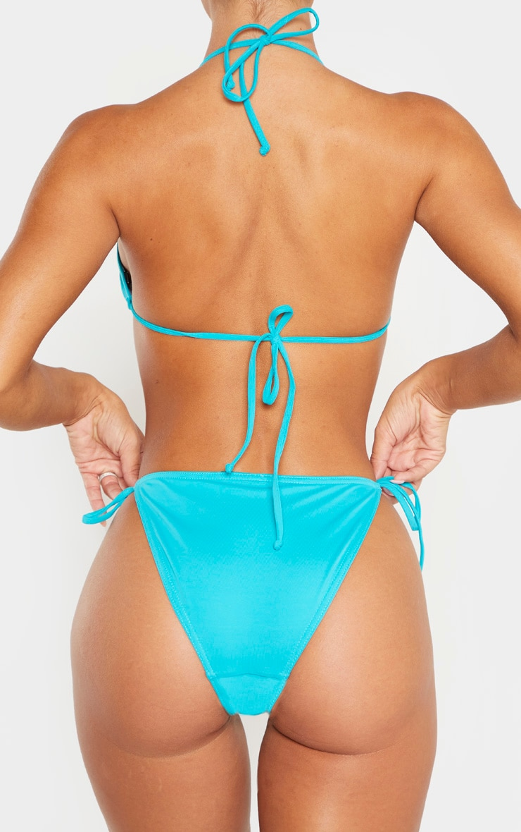 Turquoise Mix & Match Tie Side Bikini Bottoms 3