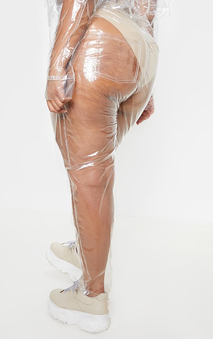 Plus Clear Transparent Straight Leg Pants 3