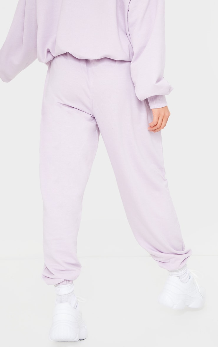 PRETTYLITTLETHING Petite Lilac Tennis Club Oversized Joggers 3