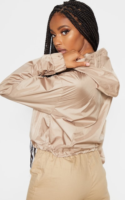 Stone Shell Toggle Detail Tracksuit Jacket