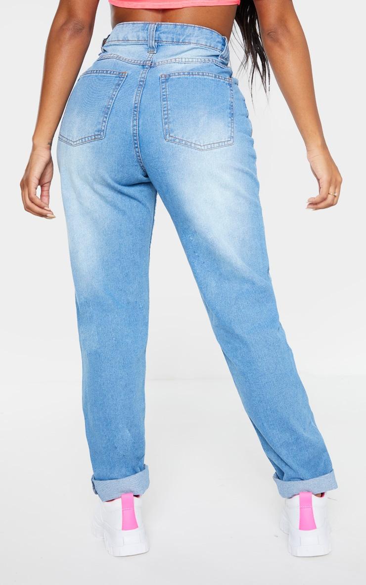 Shape - Jean mom bleu délavé 4