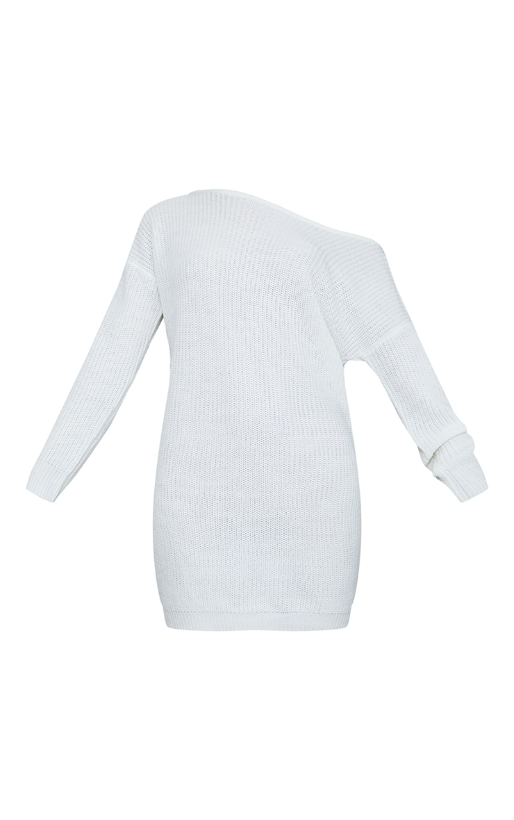 Cream Off The Shoulder Jumper Dress 6