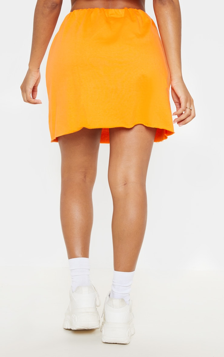 Shape Orange Sweat Mini Skirt 4