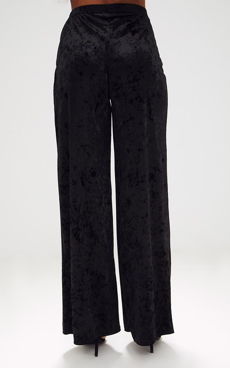 Black Crushed Velvet Suit Trouser 4