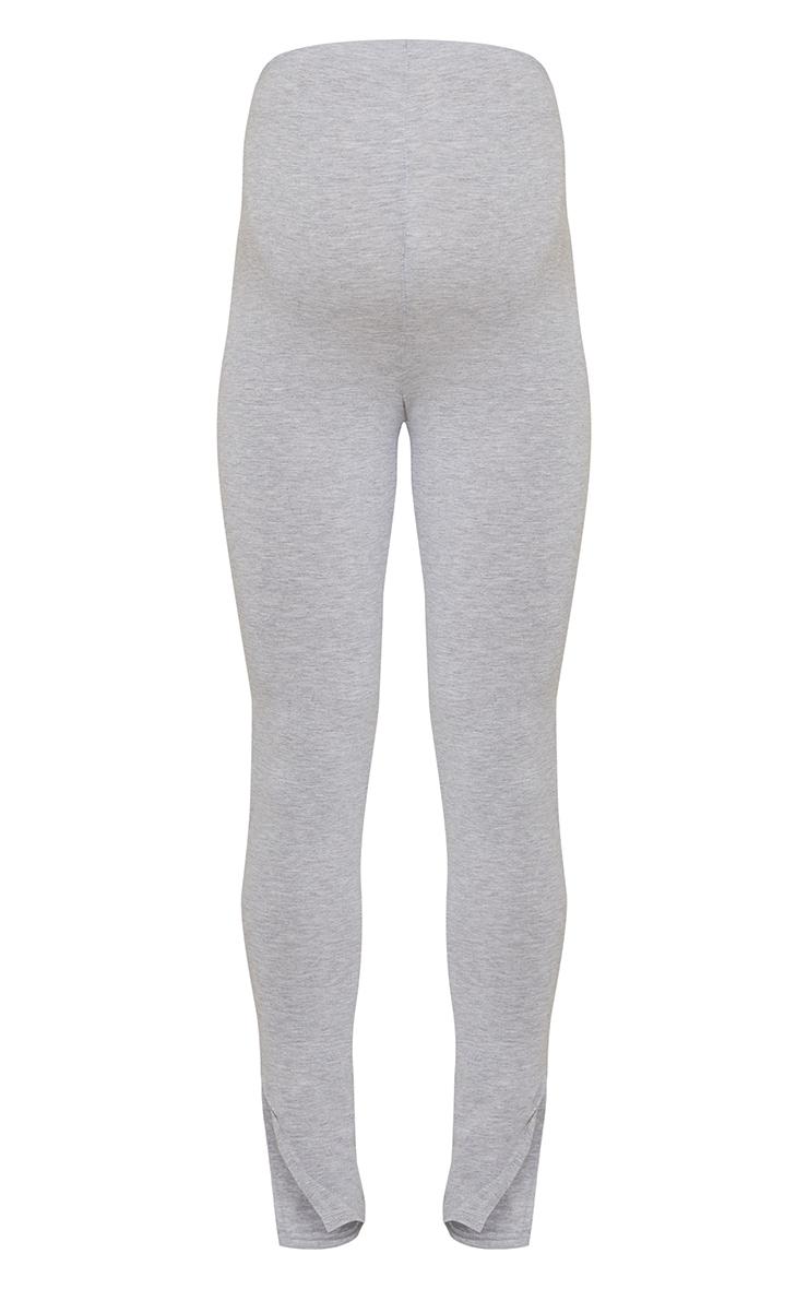 Maternity Grey Basic Split Hem Leggings 5