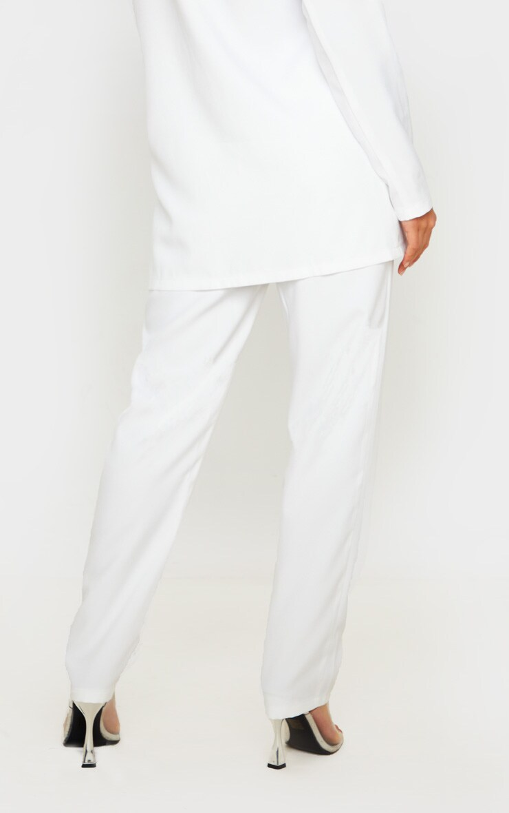 Petite Cream Straight Leg Pants 4