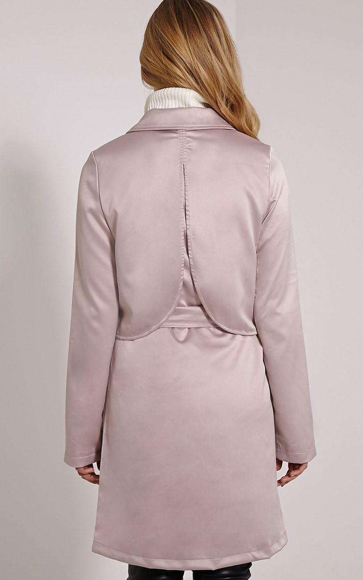 Almeria Mink Satin Feel Trench Coat 2