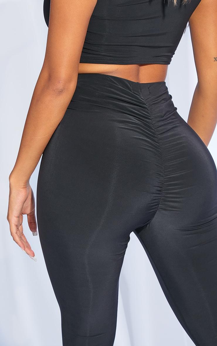 Shape Black Slinky Ruched Bum Leggings 5