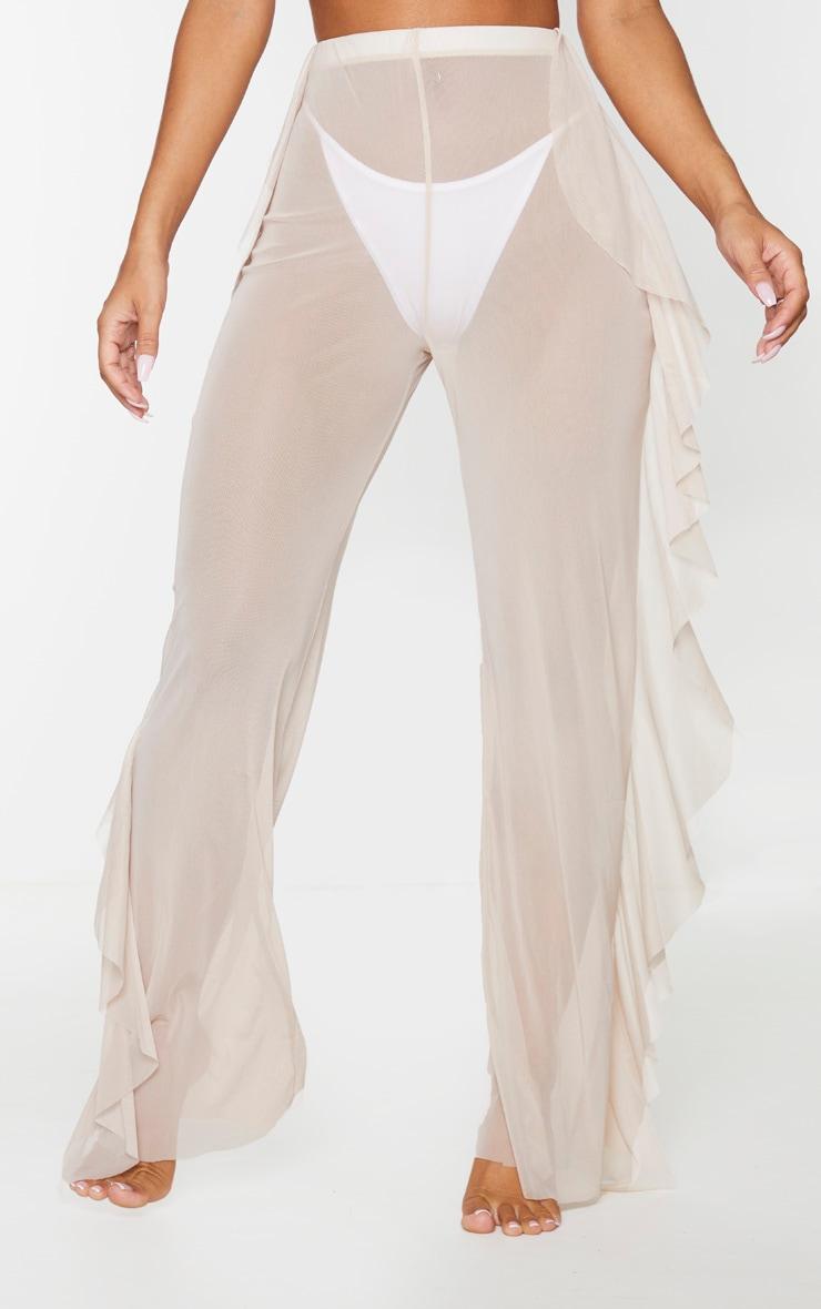 Nude Frill Mesh Beach Pants 2