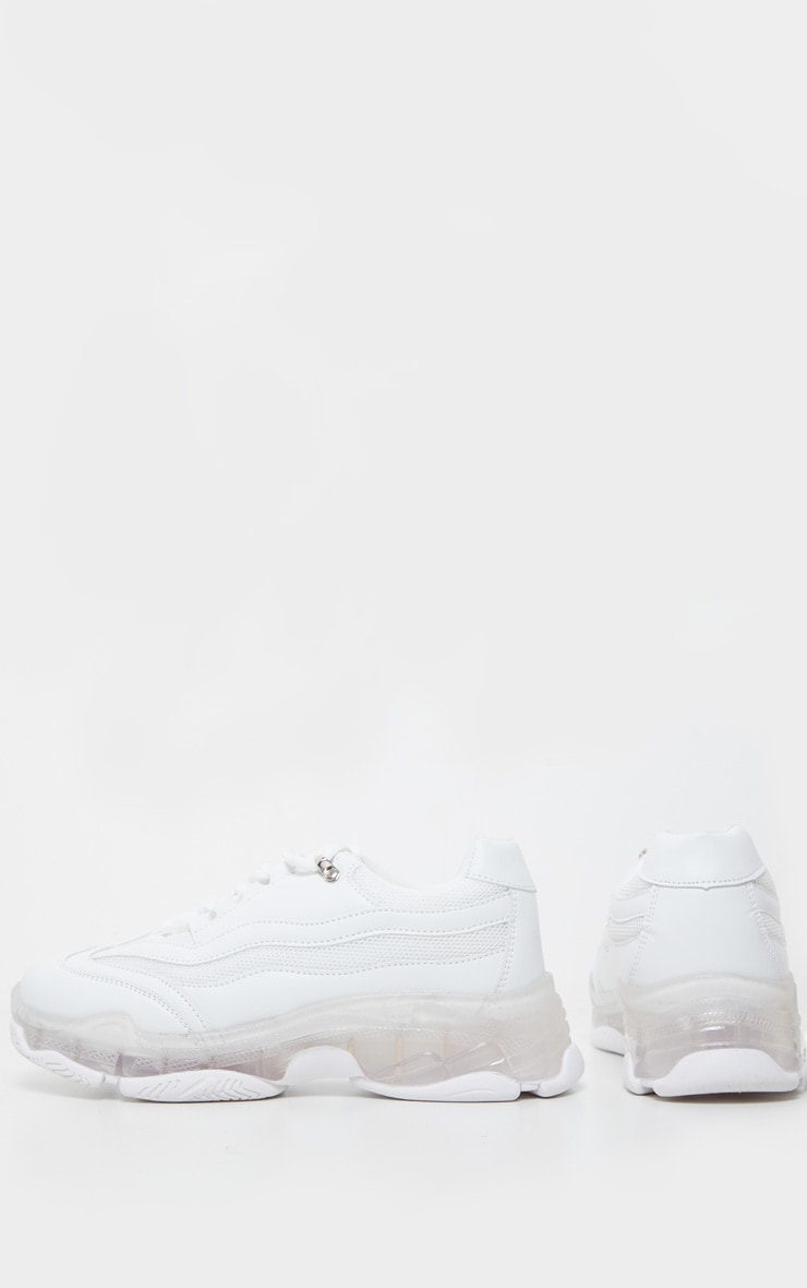White Bubble Sole Sports Sneakers 4