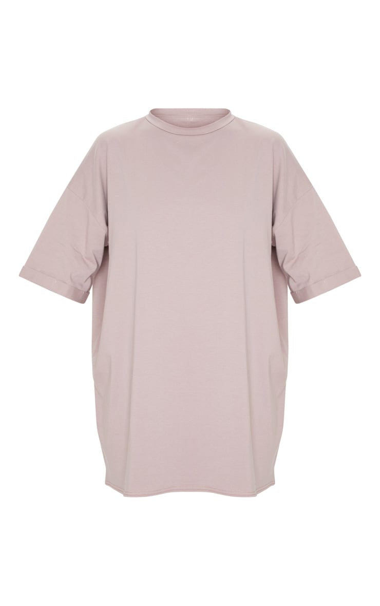 Mauve Oversized Boyfriend T Shirt Dress 5