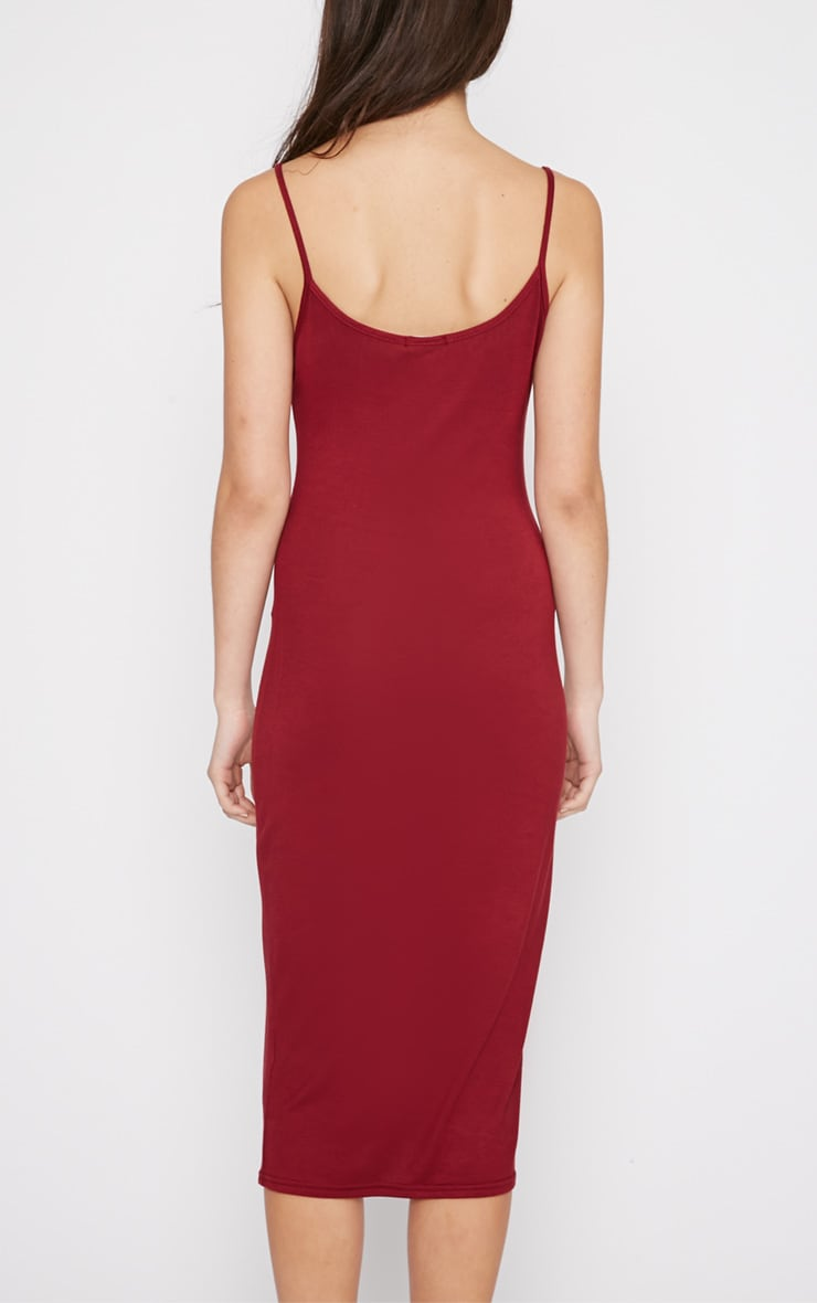 Madelyn Burgundy Midi Vest Dress 2