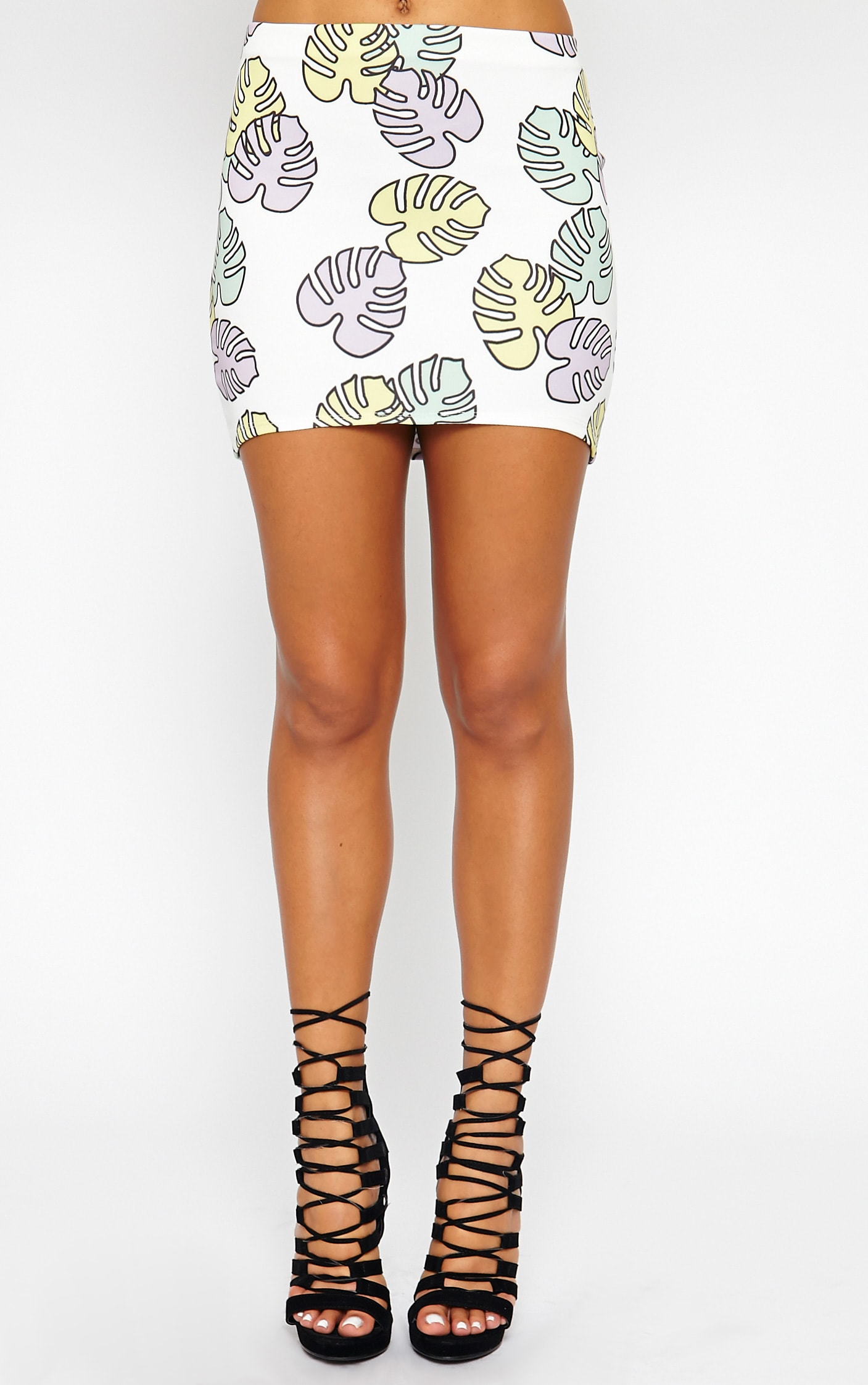 Phoenix Palm Print Skirt 3