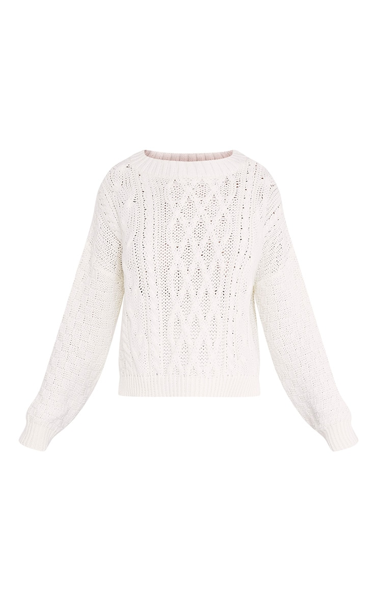 Chyanne Cream Cable Knit Jumper 3