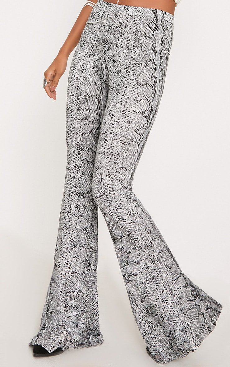 Madilyn Snake Print Flared Trousers 5
