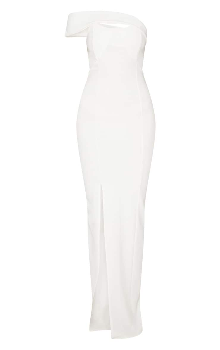 White Cross Strap Detail Maxi Dress 3