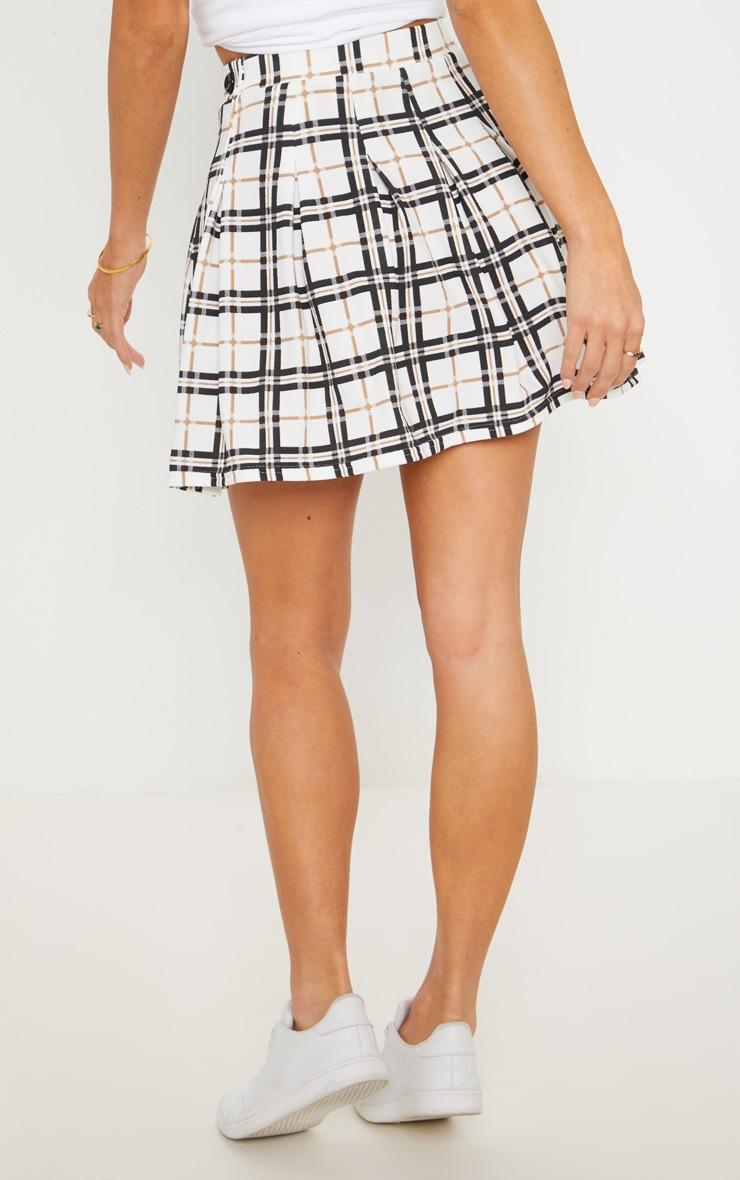 Black Check Tennis Side Split Skirt 4