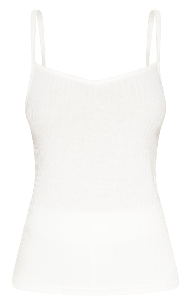 Cream Rib Knit Cami Top 3