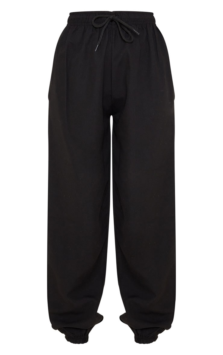 Black Peach Skin Oversized Jogger 3