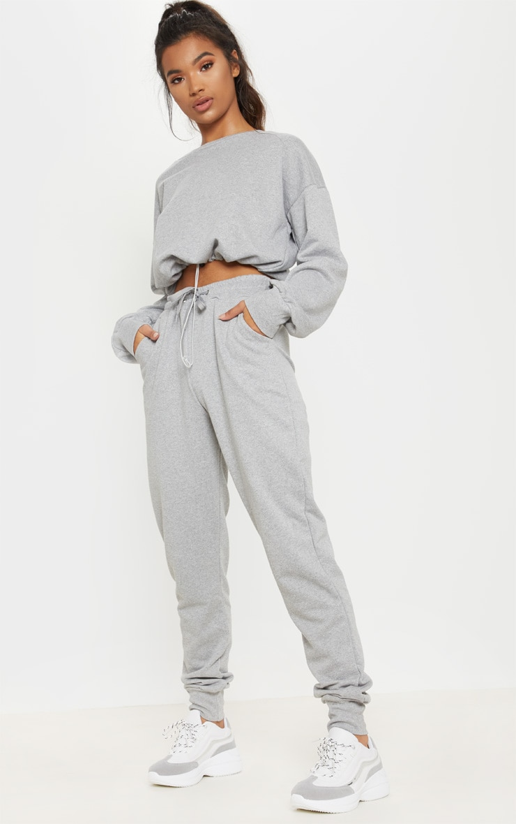 Grey Basic Gym Sweat Jogger 1