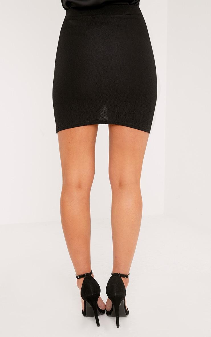 Petite Gabriella Black Asymmetric Mini Skirt 4