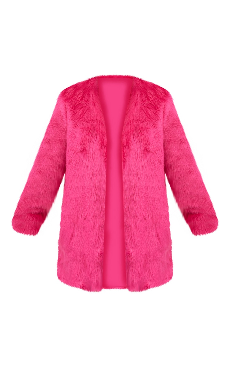 Fuchsia Faux Fur Coat 3