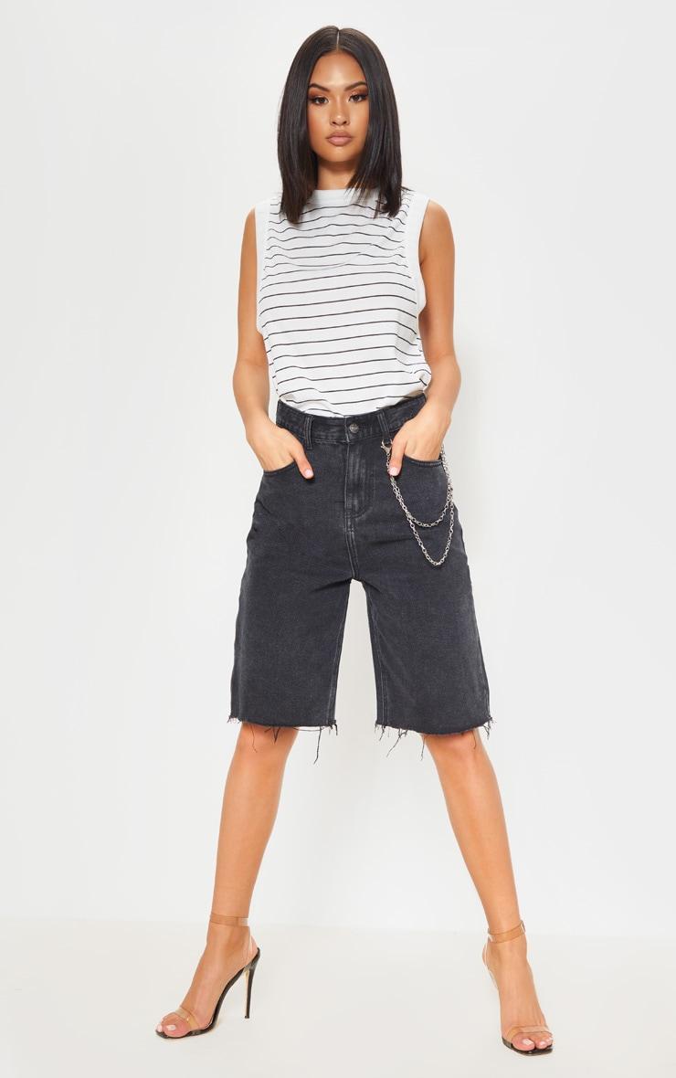 Mono Stripe Soft Rib Oversized Casual Vest 4