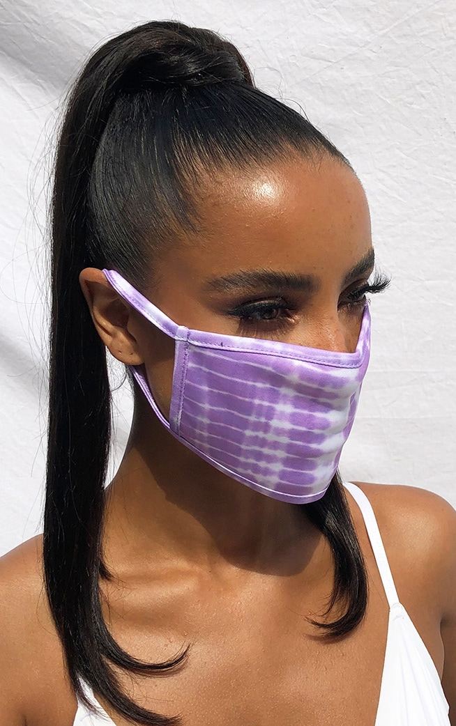 Lilac Tie Dye Fashion Mask 1