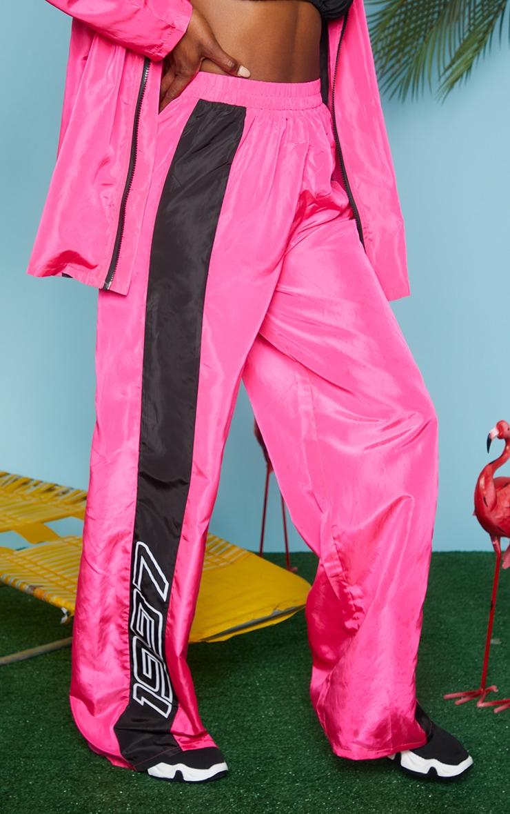 Pink Nylon 1997 Straight Leg Sports Joggers 2