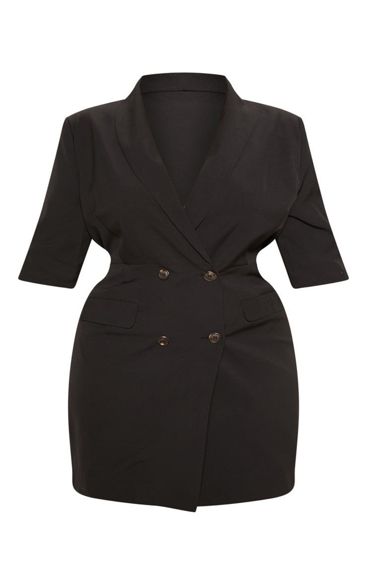 Black 3/4 Sleeve Blazer Dress 4