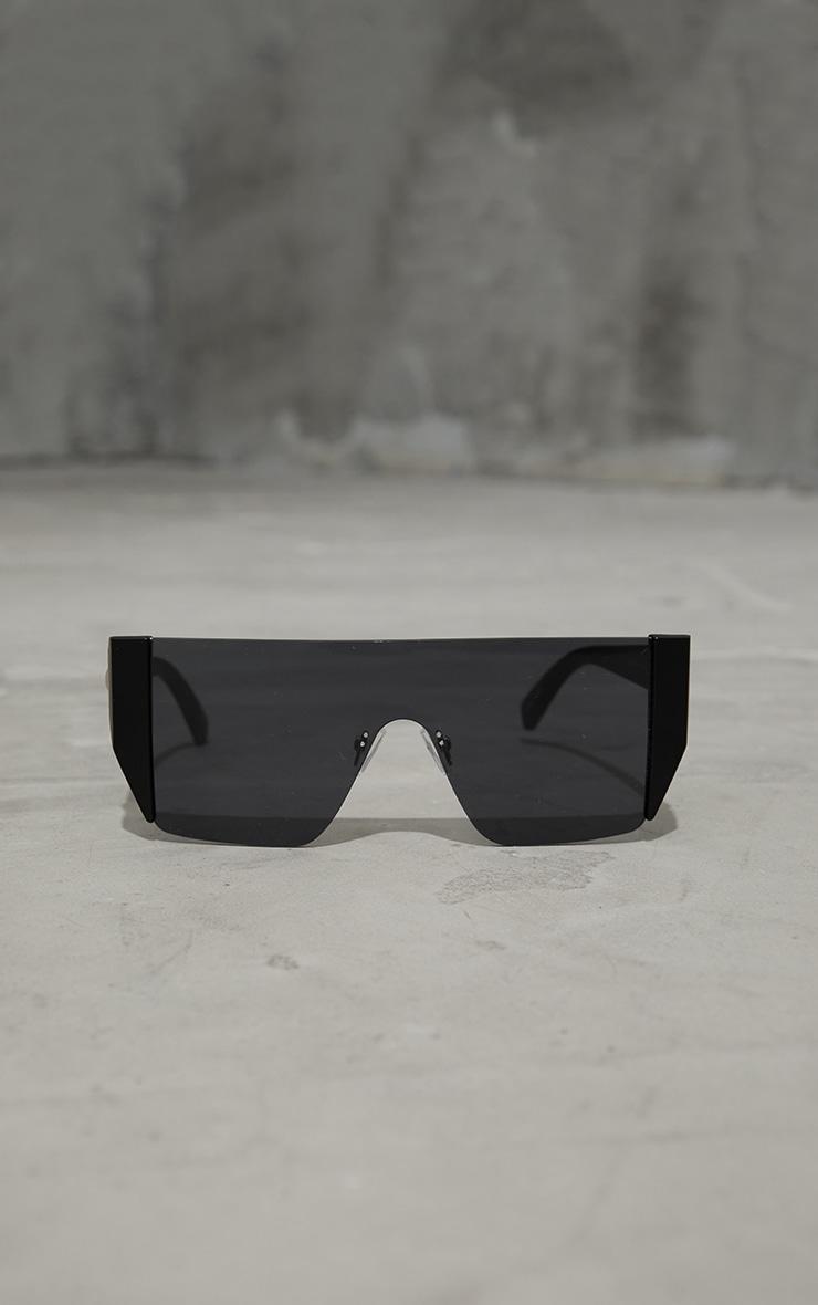 Black Flat Top Statement Sunglasses 3