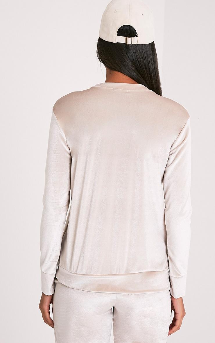 Justinna Stone Velvet sweater 2