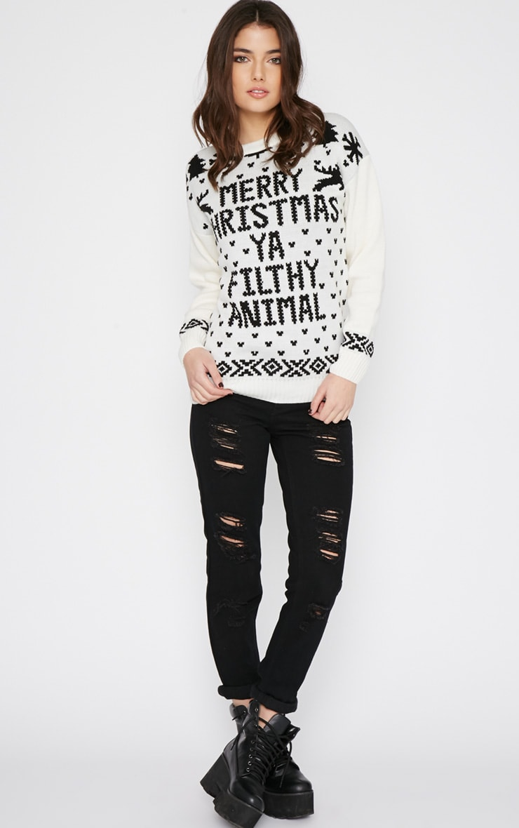 Sarah White Filthy Animal Christmas Jumper 3
