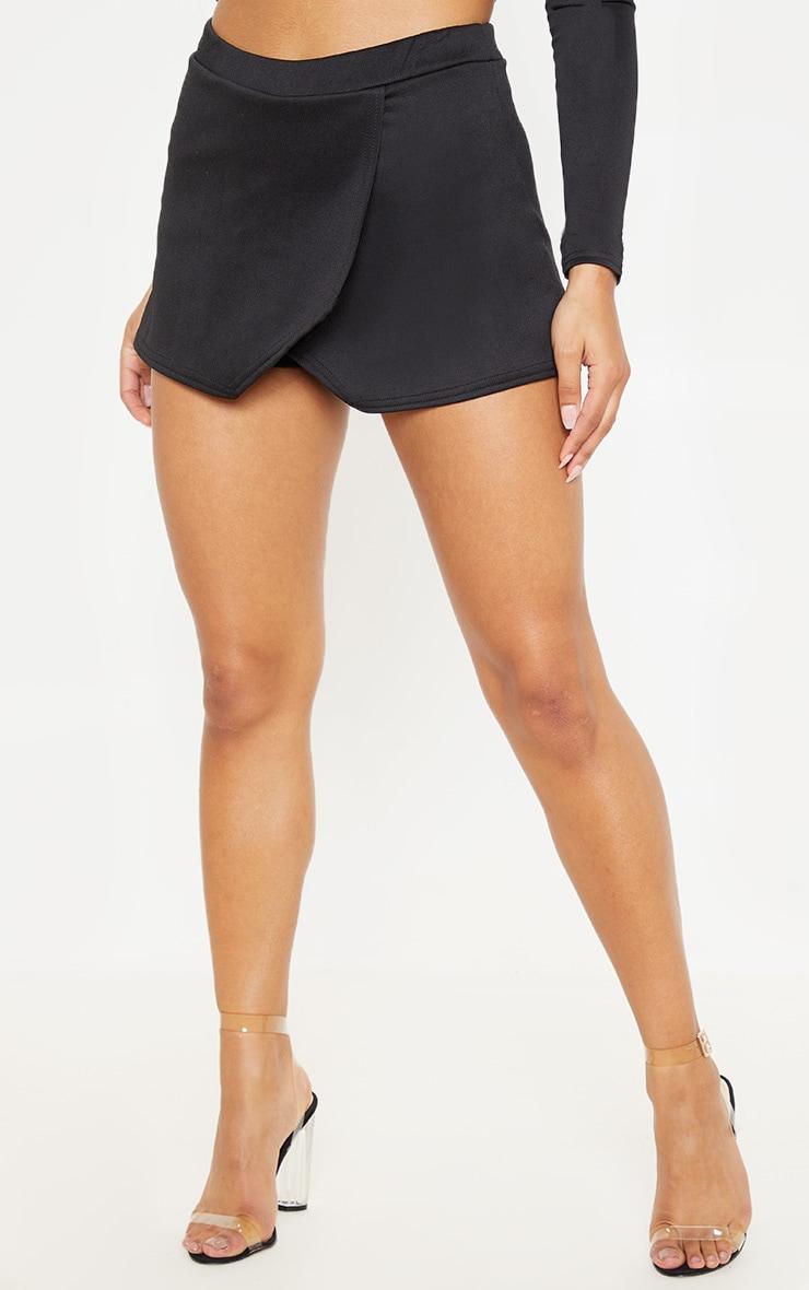 Emy jupe-short noire en néoprène 2