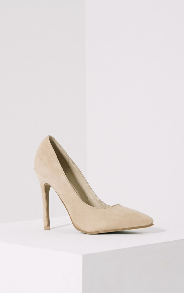Magna Cream Suede Court Shoes 3